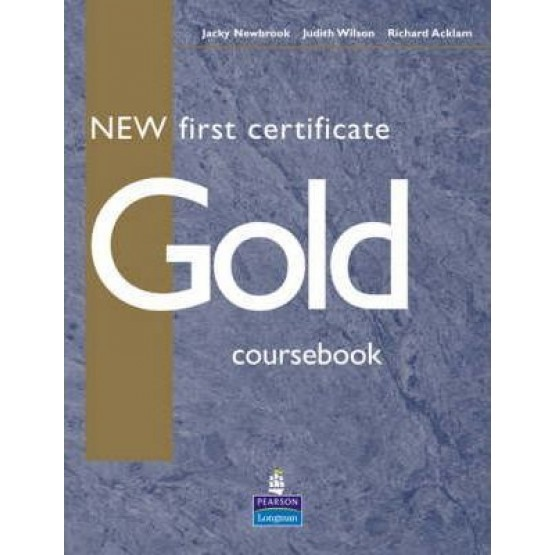 Gold coursebook New first certificate