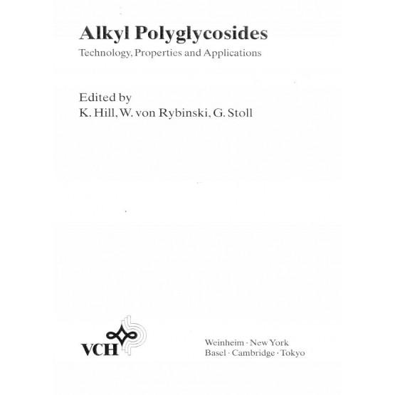 Alkyl Polyglycosides, Hill,Rybinski