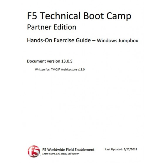 F5 Technical Boot Camp Partner Edition