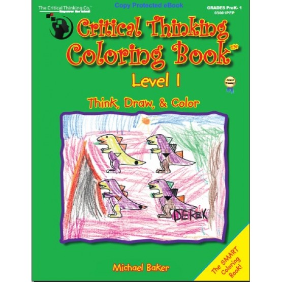 Critical Thinking Coloring Book Level 1