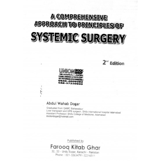 A comprehensive approach to principles of Systemic surgery 2nd edition