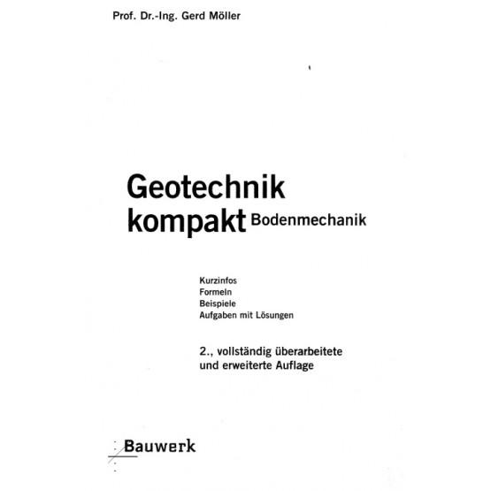 Geotechnik Kompakt Bodenmechanik Moller