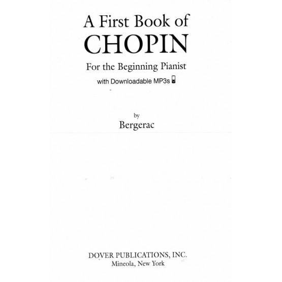 A First Book of Chopin for the Beginning Pianist
