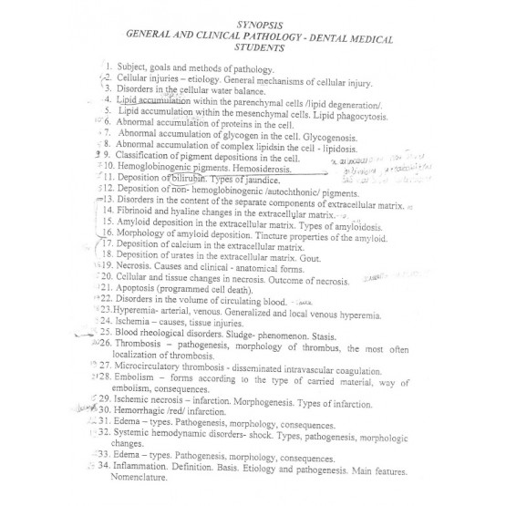 General clinical pathology dental students NOTES