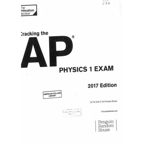 AP physics exam 2017 edition