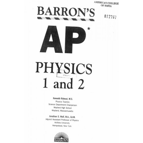 AP physics 1 and 2 barrons