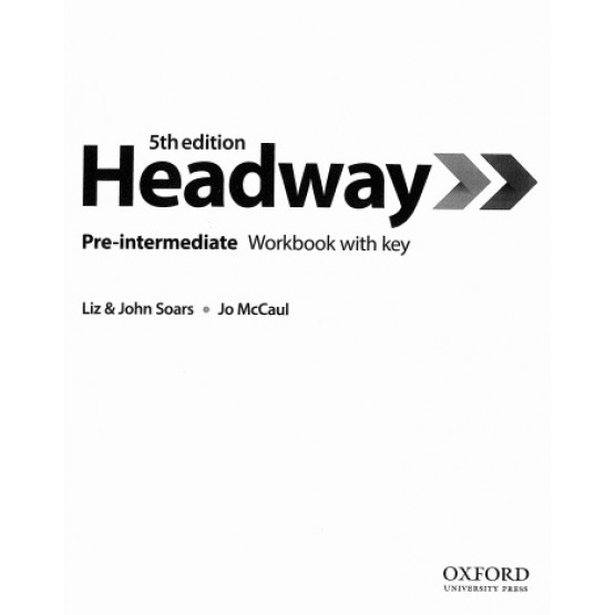 Headway Pre-intermediate Workbook with key 5th edition