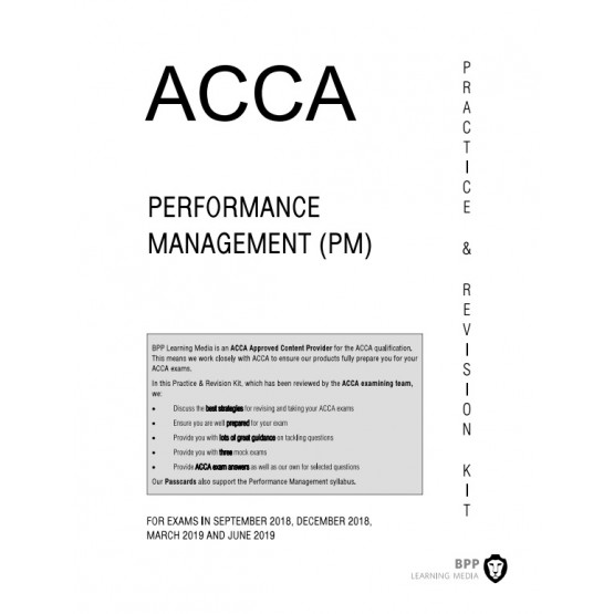 ACCA  Performance Management (PM) Practice & Revision KIT