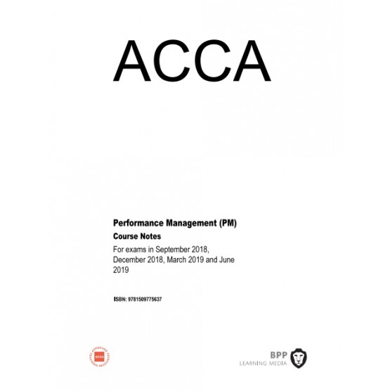 ACCA Performance Management (PM) Course Notes