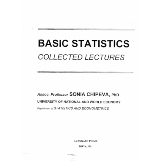 Basic Statistics collected lectures Chipeva 2011