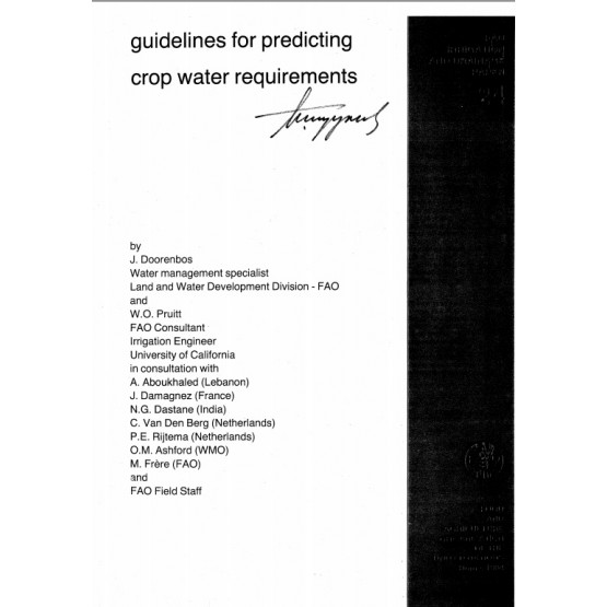 guidelines for predicting crop water requirements