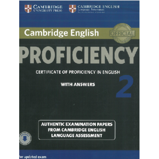 Cambridge English - Proficiency 2 - Certificate of Proficiency