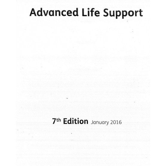 Advanced Life Support - 7th edition 2016
