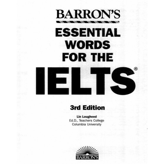 Essential words for the IELTS barrons 3rd edition