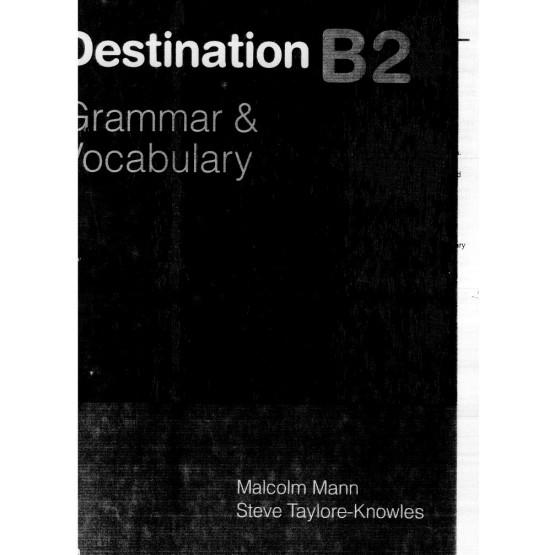 Destination B2 grammar vocabulary