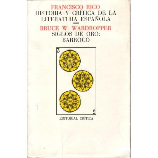 Historia de la literatura espanola siglos de oro barroco