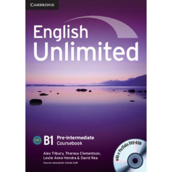 English Unlimited B1 Pre-intermediate coursebook